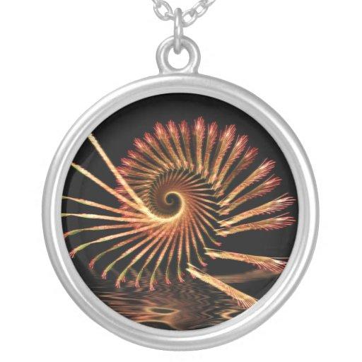 El fractal Shell remolina collar
