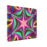 El fractal Starflower del arco iris estiró la impr Impresion En Lona
