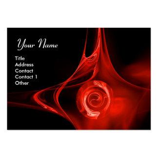El FRACTAL SUBIÓ 1 negro rojo brillante Tarjeta Personal