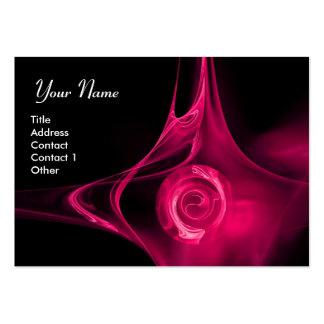 El FRACTAL SUBIÓ 1 negro rosado brillante Tarjeta De Visita
