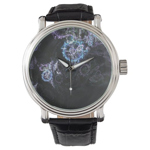 El fractal suena el reloj negro del vintage