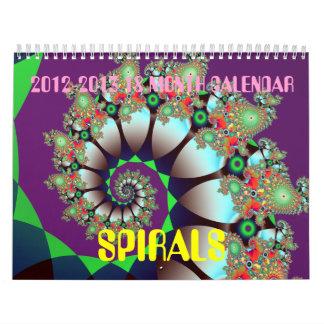 el fractal tuerce en espiral calendario de 18
