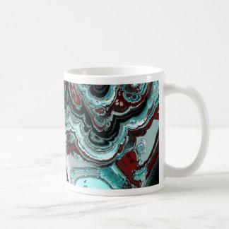 el fractal veteó 05 (l) taza básica blanca