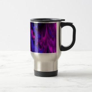 el fractal veteó 13 (l) taza de viaje de acero inoxidable