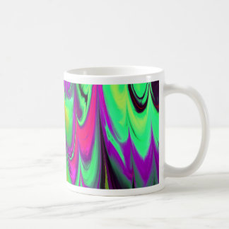 el fractal veteó 14 (l) taza básica blanca