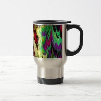 el fractal veteó 14 (l) taza de viaje de acero inoxidable