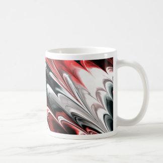 El fractal veteó 8 (l) taza básica blanca