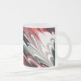 El fractal veteó 8 (l) taza cristal mate