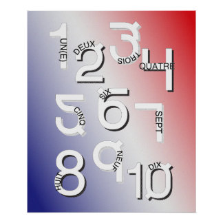 El francés numera el *UPDATED* 1 a 10 Póster