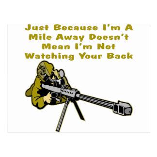 El francotirador apenas porque soy una milla lejos postales
