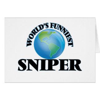 El francotirador más divertido del mundo tarjeta pequeña