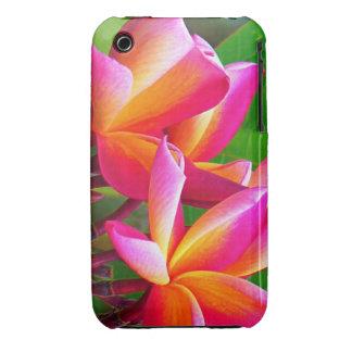 El Frangipani rosado florece la caja del iPhone 3 iPhone 3 Case-Mate Fundas