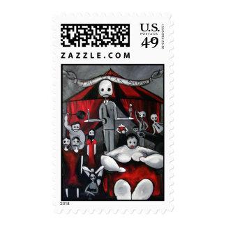El franqueo anormal de la demostración timbres postales