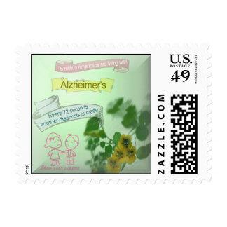 El franqueo de Alzheimer Estampilla
