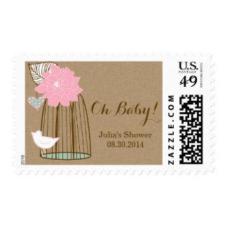 El franqueo de la fiesta de bienvenida al bebé - sellos postales