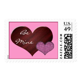 El franqueo de la tarjeta del día de San Valentín