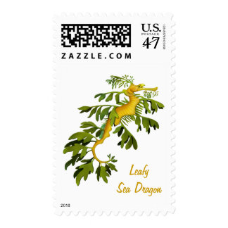 El franqueo frondoso del dragón del mar timbres postales