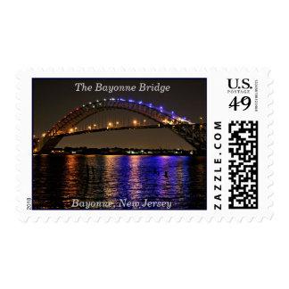 El franqueo Stamp~Color del puente de Bayona