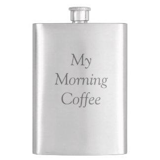 """El frasco de """"mi café de la mañana"""" cantimplora"""