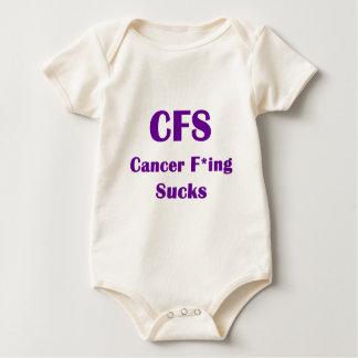 El Freaking del cáncer chupa el CFS Trajes De Bebé