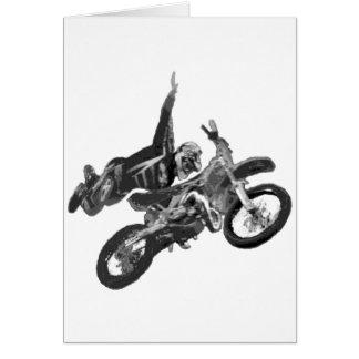 el freestyling con la bici de la suciedad tarjeta de felicitación