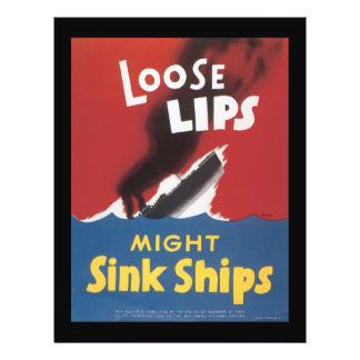 """El fregadero flojo de los labios envía la guerra folleto 8.5"""" x 11"""""""