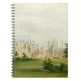 El frente del oeste, de 'vistas del pabellón real, libros de apuntes con espiral