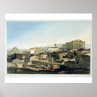 El frente del oeste del Parthenon, platea 19 de pa Póster
