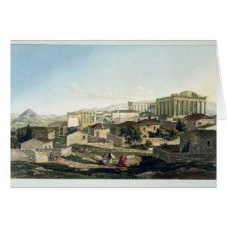 El frente del oeste del Parthenon, platea 19 de pa Tarjeta De Felicitación