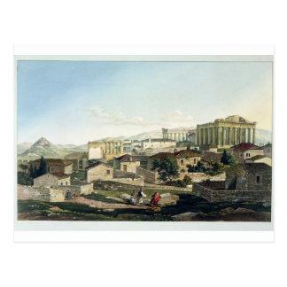 El frente del oeste del Parthenon, platea 19 de Tarjeta Postal