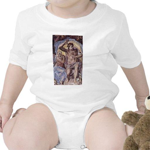El fresco del día del juicio final en la pared del traje de bebé
