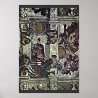 El fresco del techo en la génesis M de la capilla  Posters