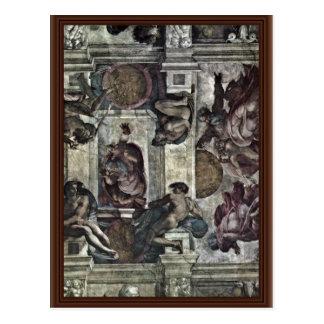 El fresco del techo en la génesis M de la capilla  Tarjeta Postal