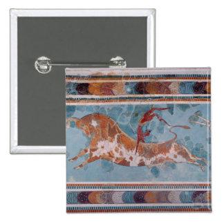 El fresco del Toreador, palacio de Knossos, Creta Pin Cuadrado