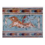 El fresco del Toreador, palacio de Knossos, Creta Postal