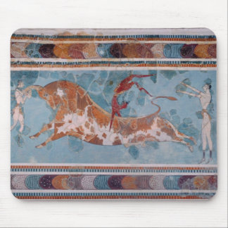 El fresco del Toreador, palacio de Knossos, Creta Tapetes De Raton