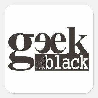 El friki es el nuevo negro calcomanías cuadradases