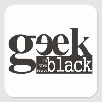 El friki es el nuevo negro pegatina cuadrada