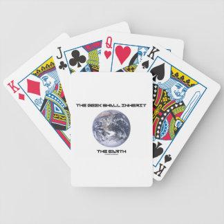 El friki heredará la tierra de mármol azul de la t baraja cartas de poker