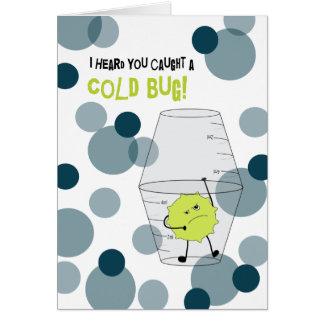 El frío consigue el insecto bien atrapado en tazas tarjeta de felicitación