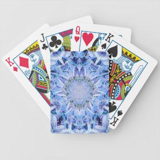 El frío entona el modelo del fractal cartas de juego