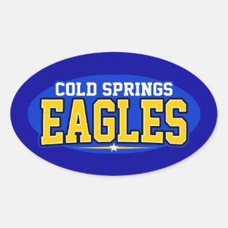 El frío salta High School secundaria; Eagles Calcomanía Óval Personalizadas