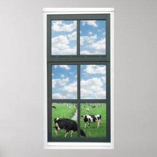 El Frisian Holstein acobarda el falso poster de la