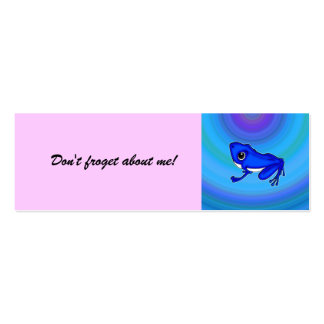 ¡El Froggy azul en el agua, no hace froget sobre Tarjetas De Visita Mini