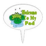 El Froggy dice la recepción a mi cojín Decoración Para Tarta