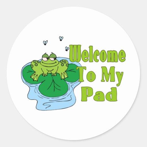 El Froggy dice la recepción a mi cojín Etiqueta Redonda