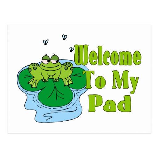 El Froggy dice la recepción a mi cojín Tarjetas Postales