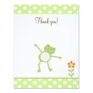 """El Froggy lindo del salto de la pídola le agradece Invitación 4.25"""" X 5.5"""""""