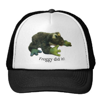 ¡El Froggy lo hizo Gorros