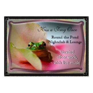 El Froggy tiene gusto de ir de fiesta Tarjetas De Visita Grandes